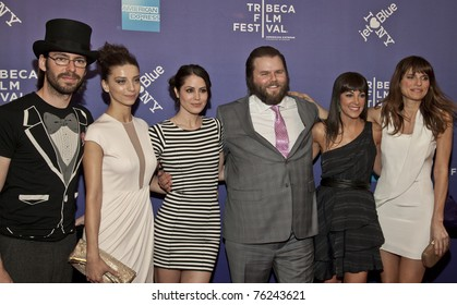 NEW YORK - APR 29: Martin Starr, Angela Sarafyan, Michelle Borth, Tyler Labine, Lindsey Sloane, Lake Bill attend premiere of 'A Good Old Fashioned Orgy' at Tribeca Film Festival on Apr 29, 2011 in NYC