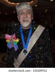 NEW YORK - APRIL 06: Gilbert Baker creator of rainbow flag attends the 27th Annual Night Of A Thousand Gowns at the Hilton New York on April 6, 2013 in New York City