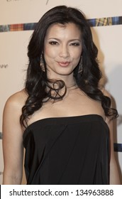 NEW YORK - APRIL 08: Actress Kelly Hu attends charity fashion show From Scotland With Love at Stage 48 on April 8, 2013 in New York City