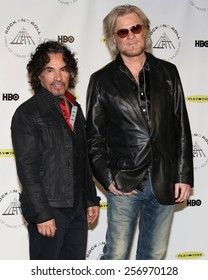 NEW YORK - APRIL 10, 2014: Daryl Hall and John Oates attend the Rock and Roll Hall of Fame Induction Ceremony at the Barclays Center on April 10, 2014 in New York City.