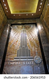 NEW YORK - APRIL 10: The Empire State Building elaborate display upon arrival on April 10, 2011 in Manhattan, New York.