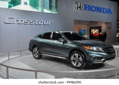 NEW YORK - APRIL 11: The Honda Crosstour at the 2012 New York International Auto Show running from April 6-15, 2012 in New York, NY.