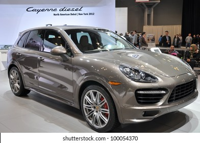 NEW YORK - APRIL 11: The Porsche Cayenne at the 2012 New York International Auto Show running from April 6-15, 2012 in New York, NY.