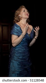 NEW YORK - APRIL 12: Actress Anna Bergman performs at Players Club to honor Patricia Neal on April 12, 2010 in New York City.