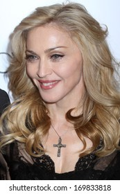 "NEW YORK - APRIL 12: Madonna attends the launch of her ""Truth Or Dare"" fragrance launch at Macy's on April 12, 2012 in New York City."
