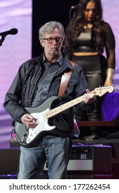 NEW YORK - APRIL 14: Eric Clapton performs in concert at Madison Square Garden on April 14, 2013 in New York City.