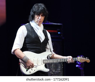NEW YORK - APRIL 14: Jeff Beck performs in concert at Madison Square Garden on April 14, 2013 in New York City.