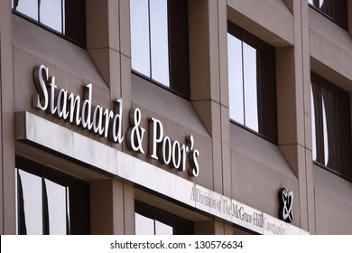 NEW YORK - APRIL 14: Standard & Poor's office building on April 14, 2012 in New York, NY. Standard & Poor's is one of the three major global rating agencies, and was founded in 1860.