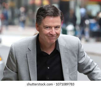 NEW YORK - APRIL 17, 2018: James Comey is seen on April 17, 2018, in New York City.