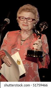 NEW YORK - APRIL 18: Doctor Ruth Westheimer presents award at the 53rd annual New York Emmy Awards Gala at The New York Marriott Marquis on April 18, 2010 in New York City.