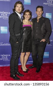 "NEW YORK - APRIL 19: Filmmaker Victor Kubicek, Genna Terranova, and Derek Anderson attend World Premiere of ""In God We Trust"" during the 2013 Tribeca Film Festival  on April 19, 2013 in New York"