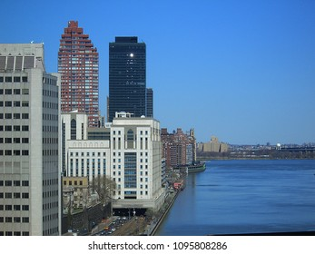 NEW YORK – APRIL 2: A view of the architecture north of 59th Street, as seen from the Queensboro Bridge on April 2, 2006 in New York. First settled in 1624, NYC now has a population of 8 million.