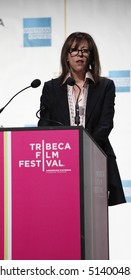 NEW YORK - APRIL 20: Jane Rosenthal attends press conference at opening Tribeca Film Festival on April 20, 2010 in New York City.