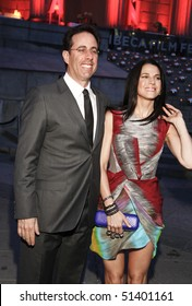 NEW YORK - APRIL 20: Jerry Seinfeld and Jessica Seinfeld arrive at Vanity Fair Party at Tribeca Film Festival on April 20, 2010 in New York City.
