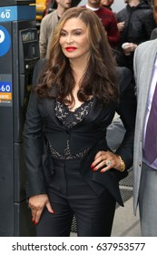 NEW YORK - APRIL 21, 2017:  Tina Knowles is seen  on April 21, 2017, in New York City.
