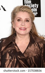 NEW YORK - APRIL 22: Catherine Deneuve attends the 40th Anniversary Chaplin Award Gala at Lincoln Center on April 22, 2013 in New York City.