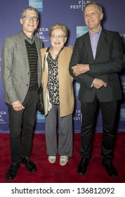 """NEW YORK - APRIL 24: Jeffrey Friedman, Dr. Mathilde Krim and Rob Epstein attend World Premiere of """"The Battle of amfAR"""" during the 2013 Tribeca Film Festival on April 24, 2013 in New York"""