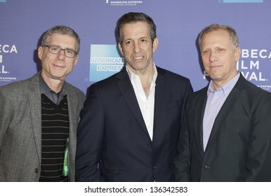 """NEW YORK - APRIL 24: Robert Epstein, Kenneth Cole and Jeffrey Friedman attend premiere of movie """"Battle Of amfAR"""" during the 2013 Tribeca Film Festival at SVA on April 24, 2013 in New York City"""