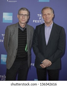 """NEW YORK - APRIL 24: Robert Epstein and Jeffrey Friedman attend premiere of movie """"Battle Of amfAR"""" during the 2013 Tribeca Film Festival at SVA on April 24, 2013 in New York City"""