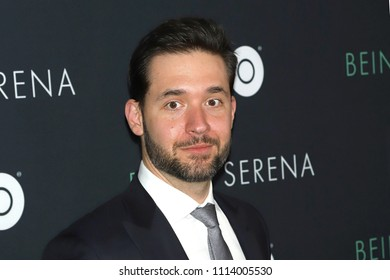 """NEW YORK - APRIL 25, 2018: Alexis Ohanian attends the premiere of """"Being Serena"""" at the Time Warner Center on April 25, 2018, in New York City."""