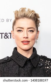 """NEW YORK, NEW YORK - APRIL 27: Amber Heard attends """"Gully"""" screening at 2019 Tribeca Film Festival at SVA Theater on April 27, 2019 in New York City."""