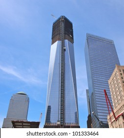 NEW YORK - APRIL 30: One World Trade Center seen under construction April 30, 2012 in New York City. Nicknamed the Freedom Tower, the skyscraper became the tallest building in New York April 30.