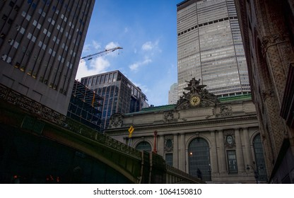 NEW YORK, NEW YORK - APRIL 5, 2018: The outside of Grand Central Station in New York City