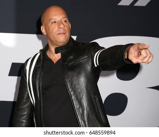"""NEW YORK - April 8, 2017: Vin Diesel attends the premiere of """"The Fate Of The Furious"""" at Radio City Music Hall on April 8, 2017, in New York."""