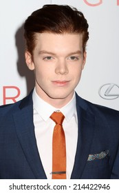 "NEW YORK - AUG 11, 2014: Cameron Monaghan attends the premiere of ""The Giver"" at the Ziegfeld Theatre on August 11, 2014 in New York City."