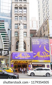 New York August 18 2018:Aladdin the Musical in New York