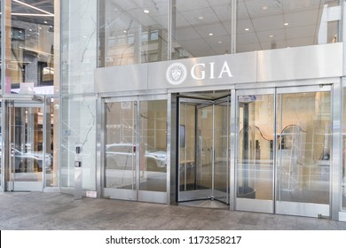 New York, August 18, 2018:The GIA lab (Gemological Institute of America) in New York is also located right in the heart of the district.