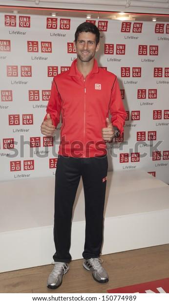 New York August 19 Novak Djokovic Celebrities Stock Image 150774989