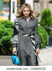 NEW YORK - AUGUST 2: Chloe Grace Moretz is seen on August 2, 2018 in New York City.