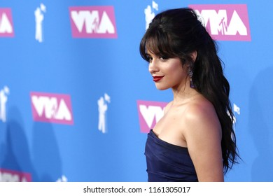NEW YORK - AUGUST 20, 2018: Camila Cabello attends the MTV Video Music Awards at Radio City Music Hall on August 20, 2018, in New York.