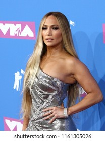 NEW YORK - AUGUST 20, 2018:  Jennifer Lopez attends the MTV Video Music Awards at Radio City Music Hall on August 20, 2018, in New York.