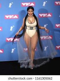 NEW YORK - AUGUST 20, 2018:  Nicki Minaj attends the MTV Video Music Awards at Radio City Music Hall on August 20, 2018, in New York.