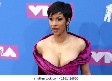 NEW YORK - AUGUST 20, 2018: Cardi B attends the MTV Video Music Awards at Radio City Music Hall on August 20, 2018, in New York.