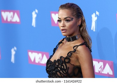 NEW YORK - AUGUST 20, 2018: Rita Ora attends the MTV Video Music Awards at Radio City Music Hall on August 20, 2018, in New York.