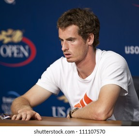 NEW YORK - AUGUST 25: Andy Murray attends press conference at Arthur Ash stadium on August 25, 2012 in Queens New York