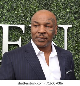 NEW YORK - AUGUST 28, 2017: Former boxing champion Mike Tyson attends US Open 2017 opening ceremony at USTA Billie Jean King National Tennis Center in New York
