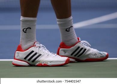 NEW YORK - AUGUST 28, 2017: Professional tennis player Tennys Sandgren of  USA wears