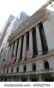 NEW YORK -AUGUST 3, 2017:The New York Stock Exchange in Manhattan. It is by far the world's largest stock exchange by market capitalization of its listed companies at US$16.613 trillion as of May 2013