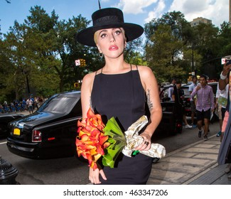 NEW YORK - AUGUST 3: Lady Gaga seen out and about on August 3, 2016 in New York City.