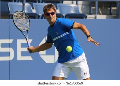 NEW YORK - AUGUST 30, 2015: Professional tennis player Tommy Robredo of Spain practices for US Open 2015 at National Tennis Center in New York