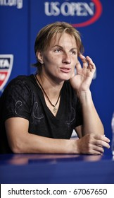 NEW YORK - AUGUST 31: Svetlana Kuznetsova attends press conference at US Open tennis tournament on August 31, 2010, New York.