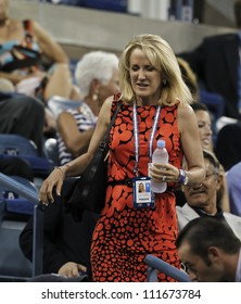 NEW YORK - AUGUST 31: Tracy Austin attends 2nd round match bettwen Andy Roddick of USA & Bernard Tomic of Australia at US Open tennis tournament on August 31, 2012 in Flashing Meadows New York