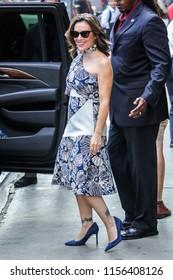 NEW YORK - AUGUST 6: Alyssa Milano is  seen on August 6, 2018 in New York City.