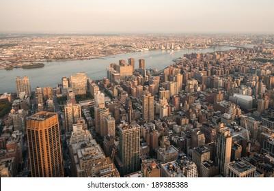 New York. Beautiful skyline, aerial view.