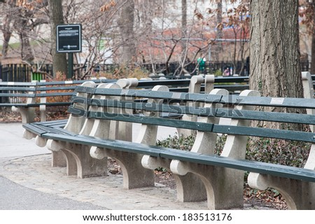 New York Central Park Parkbench Stock Photo Edit Now 183513176