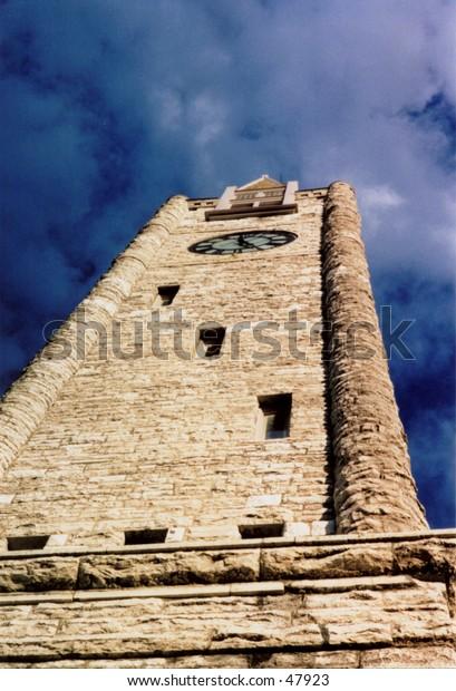 New York church clock tower